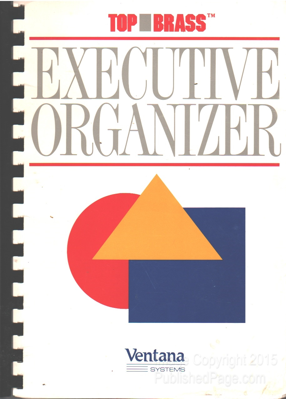 Image for Top Brass Executive Organizer: Popup Programs for Personal Productivity (manual only)